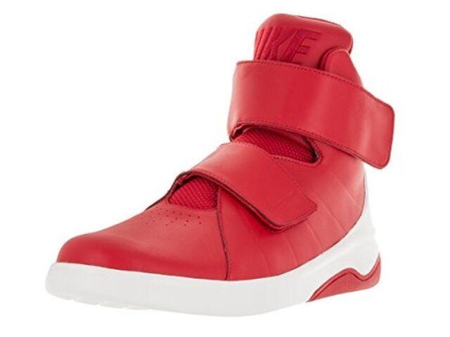 Men's Nike MARXMAN 832764-600 Red White Leather Basketball Shoes SIZE 10.5