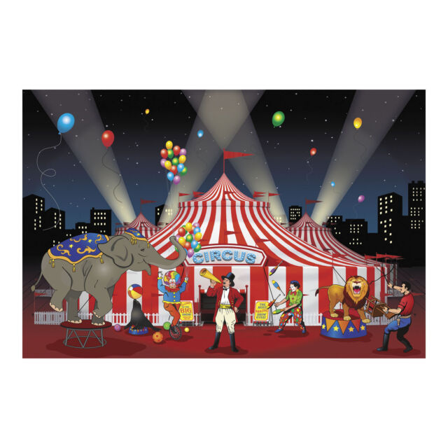 BIG TOP CIRCUS CARNIVAL tent PARTY DECOR wall mural backdrop photo prop BANNER  sc 1 st  eBay & Big Top Circus Carnival Tent Party Decor Wall Mural Backdrop Photo ...