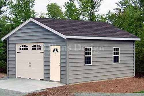 18 x 28 car garage workshop shed building plans material for Material list for shed