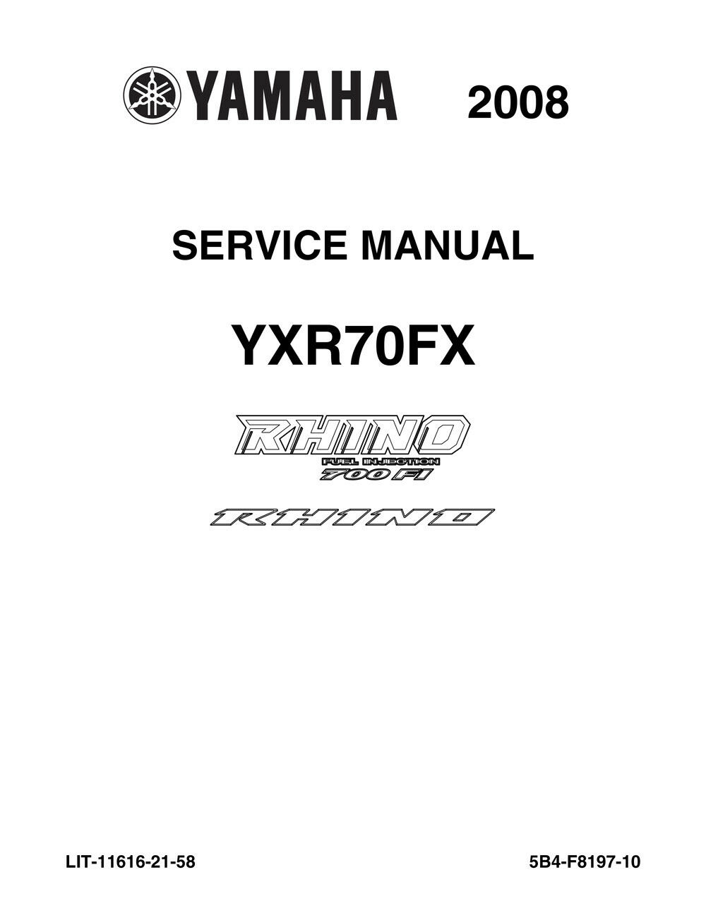 oem yamaha service manual 08 rhino 700 fi yxr70fx nos ebay rh ebay com rhino 660 service manual rhino 660 service manual