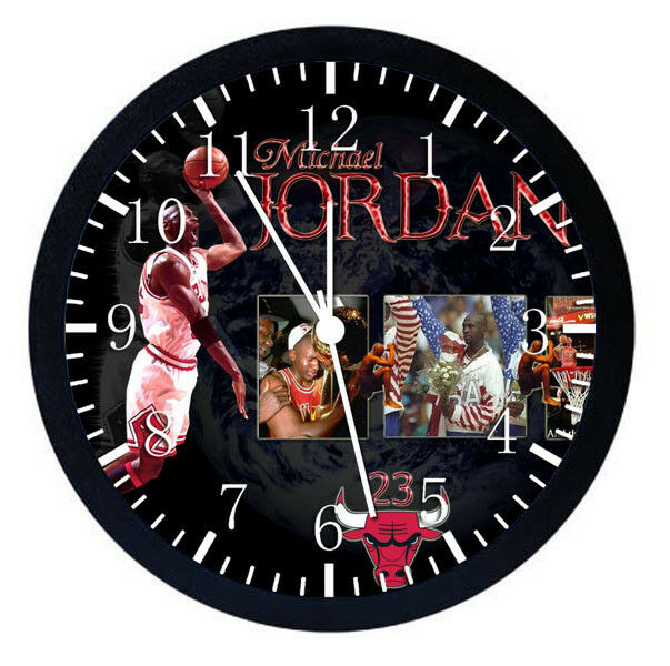 Michael Jordan Black Frame Wall Clock for Decor or Gifts W28 | eBay
