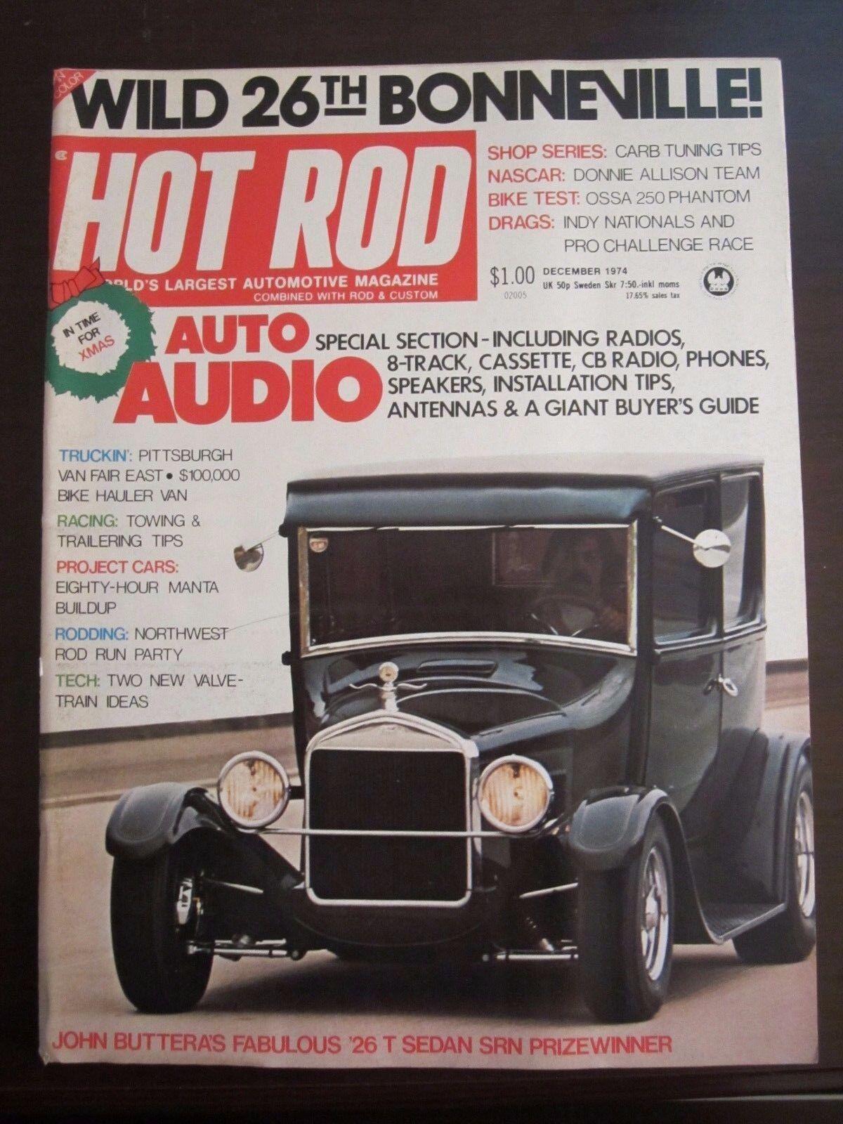 Hot Rod - December, 1974 Back Issue | eBay