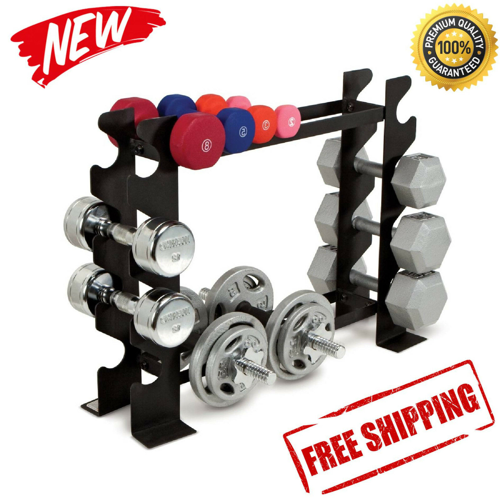 Dumbbell Rack Gym Workout Storage Exercise Weights Fitness Barbell Weight  Bench   EBay