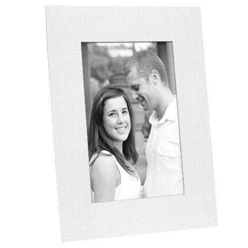 White Paper Cardstock Photo Easel 4x6 Frame W/plain Border in 25s ...