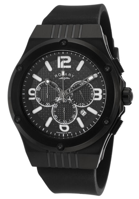 Rotary Men's Fusion Chronograph Ion Plated Rubber Watch GS03623/C/19