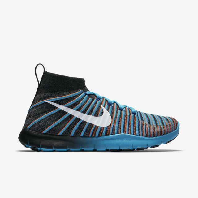 Nike Free TR Force Flyknit Men's Training Shoes Black/Grey/Blue 010 Multi