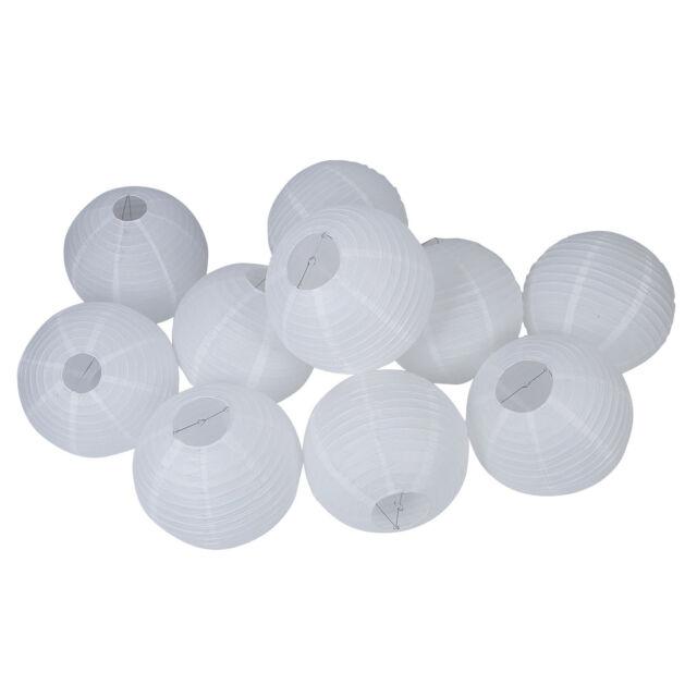 """16"""" White Round Paper Lantern - (10 Pack) L1Y2"""