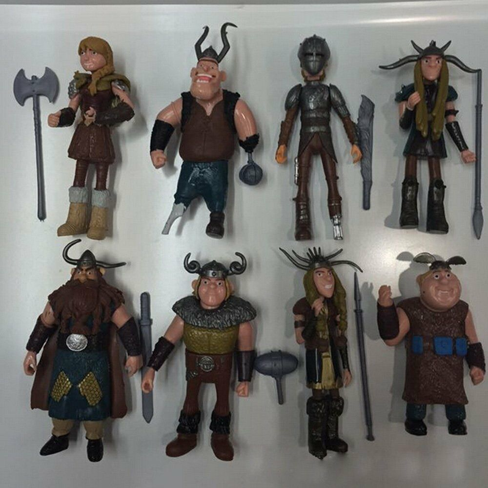 How to train your dragon ebay set of 8 pcs how to train your dragon hiccup astrid stoick action figures toys ccuart Image collections
