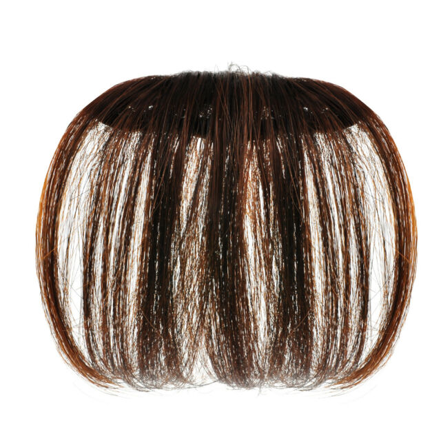 Beauty Thin Neat Air Bangs Hair Extension Clip In Natural Fringe