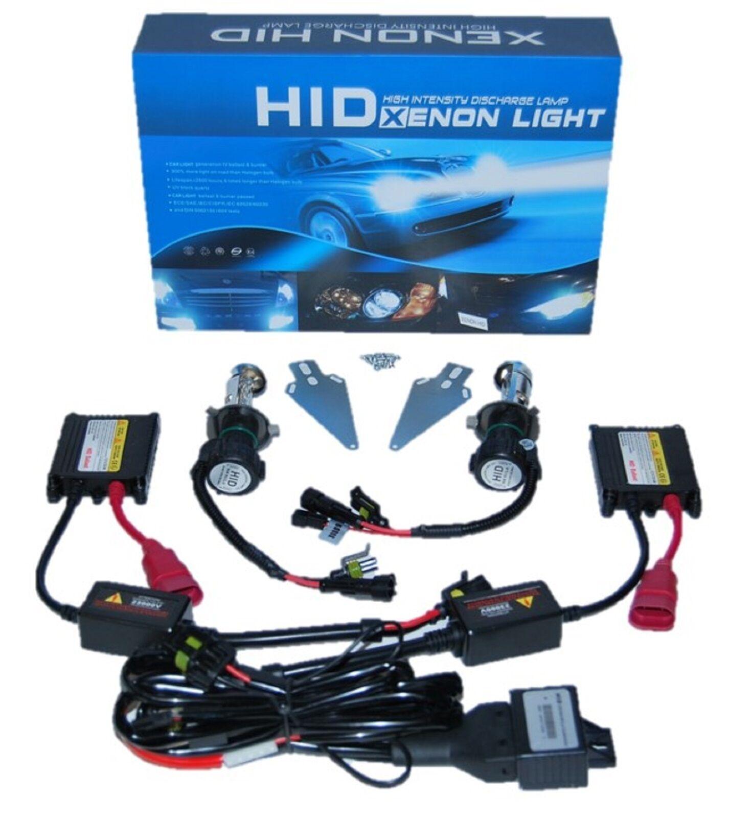 k Super White Hilow H4 HID Light Bulbs Bi xenon Slim Ballast