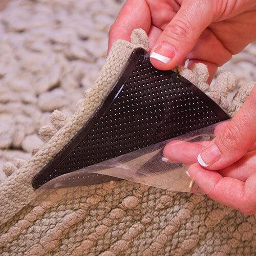 4pcs Rug Carpet Mat Grippers Non Slip Grip Anti Skid Reusable Silicone Ebay