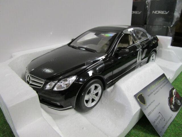 MERCEDES BENZ E 500 cabriolet de 2010 noir 1/18 NOREV 183543 voiture miniature