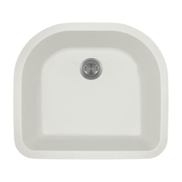 Mr Direct 824 White TruGranite Single D-bowl Kitchen Sink 0 0 | eBay