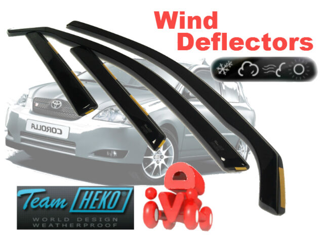 Toyota Corolla 2002 - HATCHBACK  Wind deflectors   4.pc  HEKO  29340
