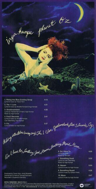 "Inga Humpe ""Planet Oz"" Mit 10 Songs! Von 1990! Digital remastered! Neue CD!"