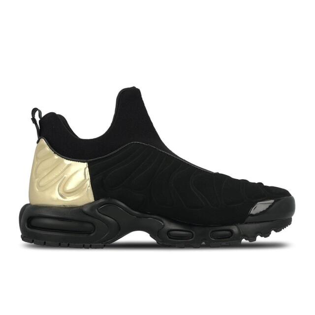 DONNA NIKE AIR MAX PLUS SLIP SP 940382 001 Nero Oro Scarpe sportive