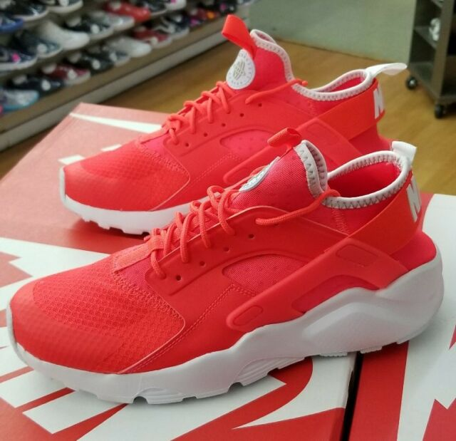 NIKE AIR HUARACHE RUN ULTRA 819685 602 BRIGHT CRIMSON WHITE MEN US SZ 12