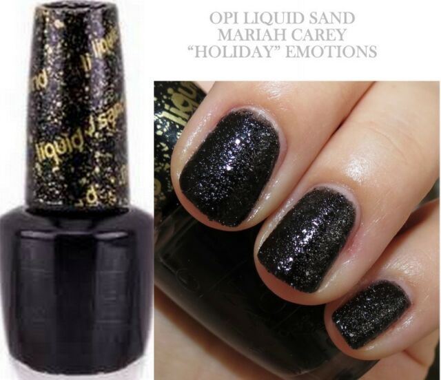 OPI Nail Polish Liquid Sand Black Emotions E21 Mariah Carey Holiday ...
