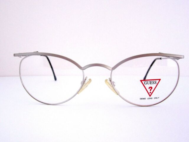 GUESS GU390 MSSS Silver Eyeglasses Frame Italy With Case NOS | eBay