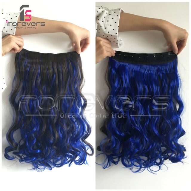 Hair Extensions Real Thick 1pcs 34 Half Full Head Clip In Long 18
