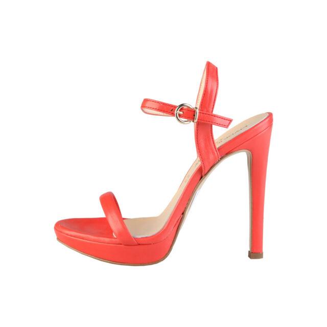 scarpa donna con plateau corallo 38