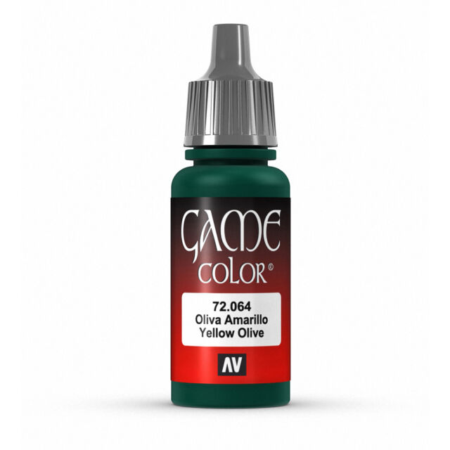 Vallejo Game Color: Yellow Olive - VAL72064 Acrylic Model Paint 17mm Bottle
