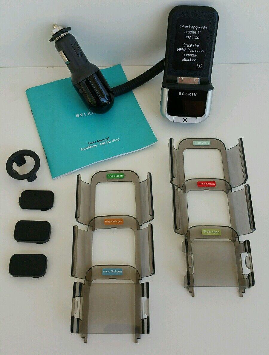 belkin tunebase fm transmitter for apple ipod iphone with clearscan rh ebay com Belkin F9K1106