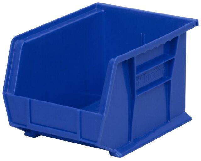 case of 6 akro mils 30239 plastic storage stacking hanging bin 11x8x7 - Plastic Stackable Bins