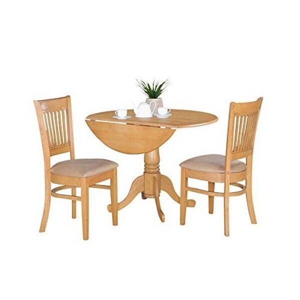 picture 1 of 1 east west furniture dlva3 oak c 3pc kitchen nook dining table set      rh   ebay com