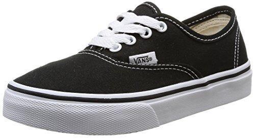 VANS Authentic Kids Vn000wwx6bt Black True White Canvas Shoes Medium Youth  Blacks 12