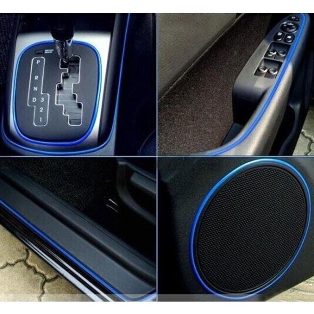 Captivating 5M Point DIY Trim Blue Edge Gap Line Car Interior Accessories Molding  Garnish