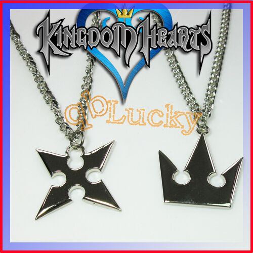 Kingdom hearts sora crown roxas cross necklace necklaces 2pcs set kingdom hearts sora crown roxas cross necklace necklaces 2pcs set ebay aloadofball Gallery