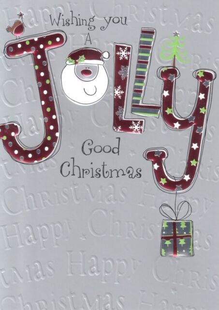 Wishing you a jolly good christmas card embossed foiled xmas wishing you a jolly good christmas card embossed foiled xmas greeting cards m4hsunfo