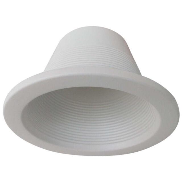 Utilitech 4 in white baffle recessed lighting trim cr4027w ebay ciata lighting 4 recessed can light step trim baffle 120v aloadofball Choice Image