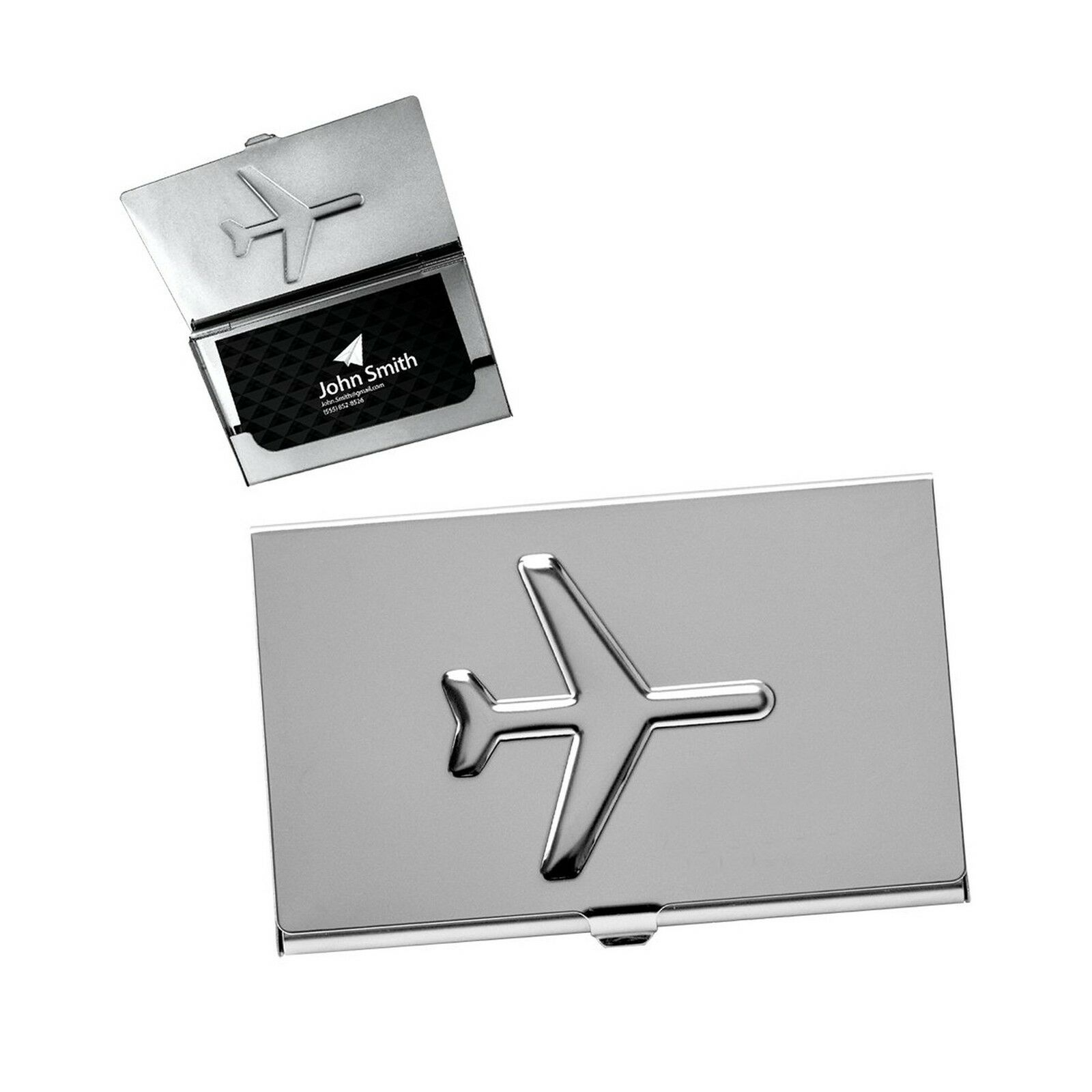 Design gifts metal airplane business card case ebay picture 1 of 3 reheart Gallery