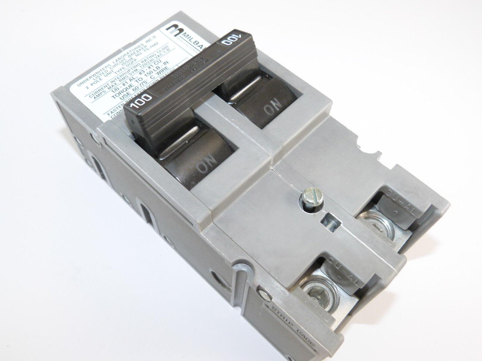Milbank Uqfp 100 Amp 2 Pole Circuit Breaker Ebay 20a Afci Chfcaf120neweggcom Item 2p 100a 120 240v New 1 Yr Warranty