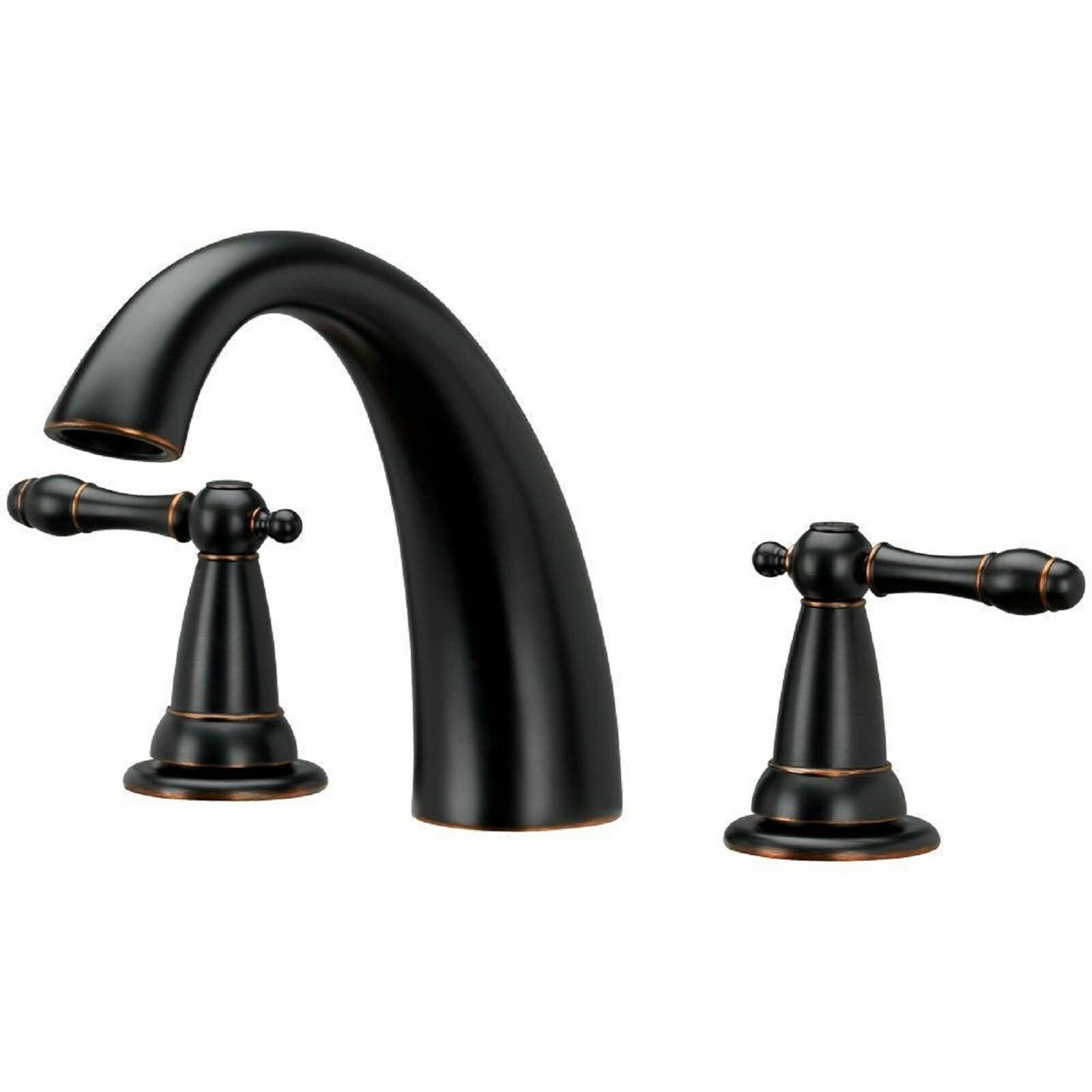 Brushed Bronze Roman Tub Faucet With Ceramic Cartridge & Metal Lever ...