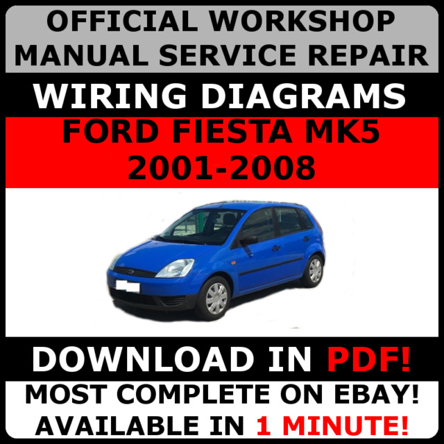 official workshop manual service repair ford fiesta 2001 2008 ebay rh ebay com ford fiesta mk5 service manual pdf ford fiesta mk5 workshop manual
