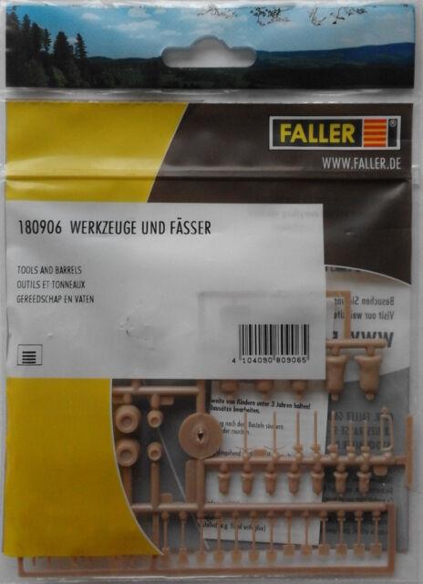 FALLER 180906 Assorted Tools, Barrels & Sacks 00/H0 Plastic Model Accessories