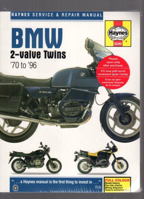 BMW R SERIES 2-VALVE TWINS 1970-1996 HAYNES SERVICE & REPAIR WORKSHOP MANUAL