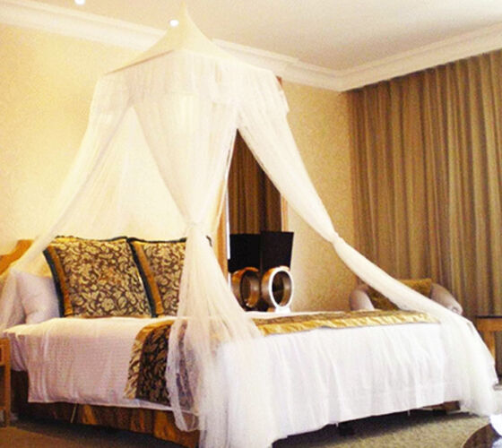 Bali Resort Style Elegant White Bed Canopy Mosquito Net Netting ...