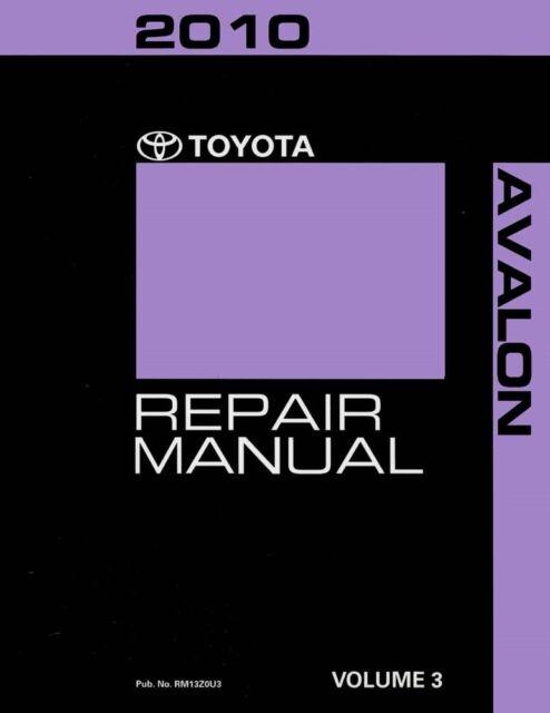 2010 toyota avalon shop service repair manual volume 3 only ebay rh ebay com 2012 Avalon 2000 Avalon