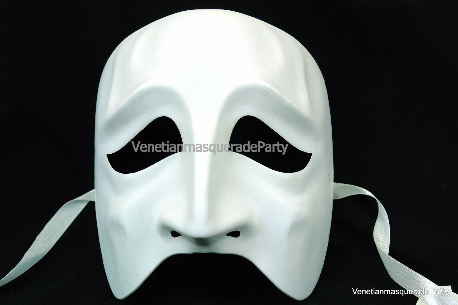 unpainted white blank skeleton masquerade ball diy mask base costume