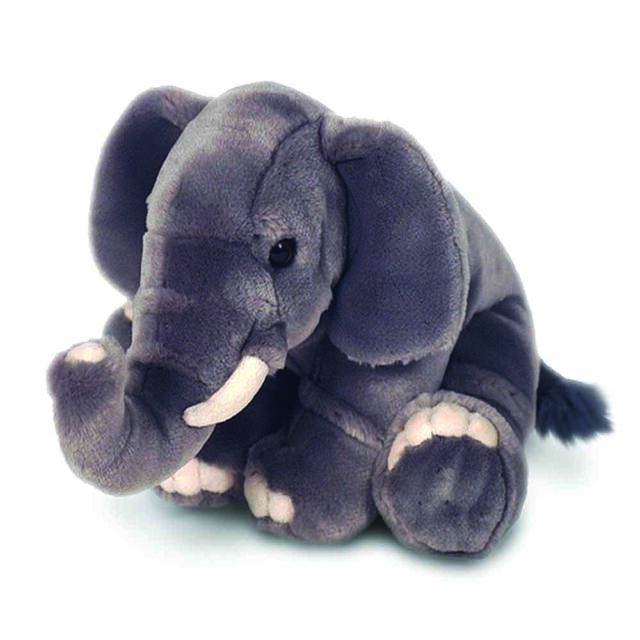 Elephant plush wild domestic animal medium stuffed teddy soft toy kids & adults