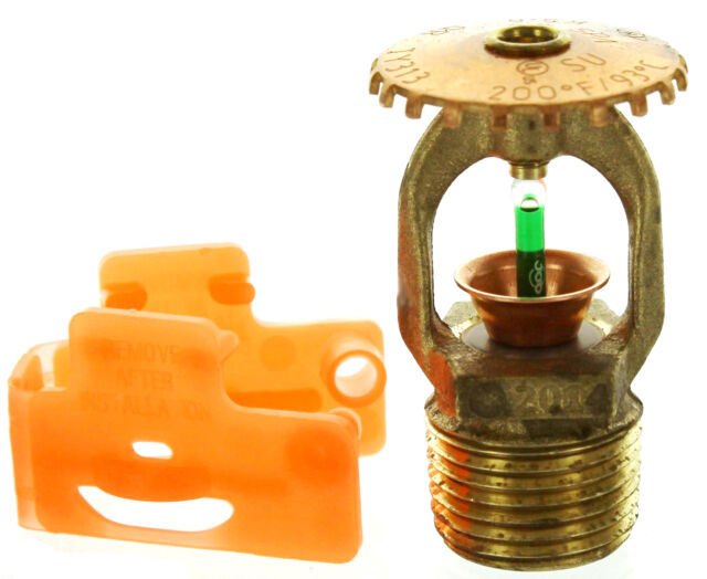 100 Fire Sprinkler Head Tyco Ty313 155 F Qr Brass Upright