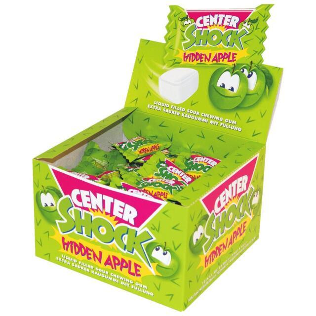 Center Shock Hidden Apple 100 Stück - Extra saurer Kaugummi (1er Pack)