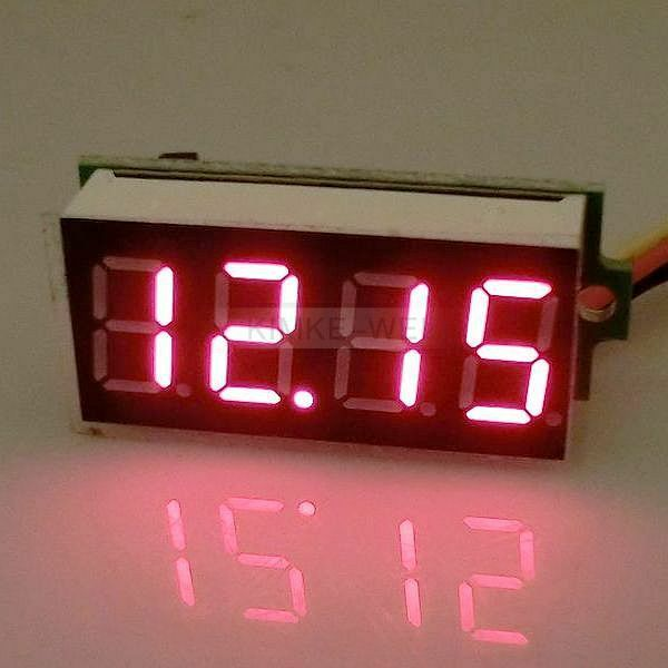 DC 0-33V Rot LED 4 Digit Digital Voltmeter Panel Meter