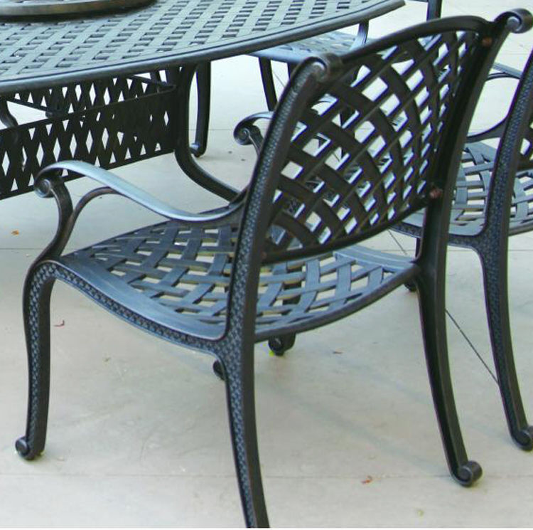 Patio Dining Chairs Set Of 6 Outdoor Cast Aluminum Furniture ...