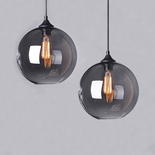 vintage modern industrial globe glass ceiling lamp pendant light
