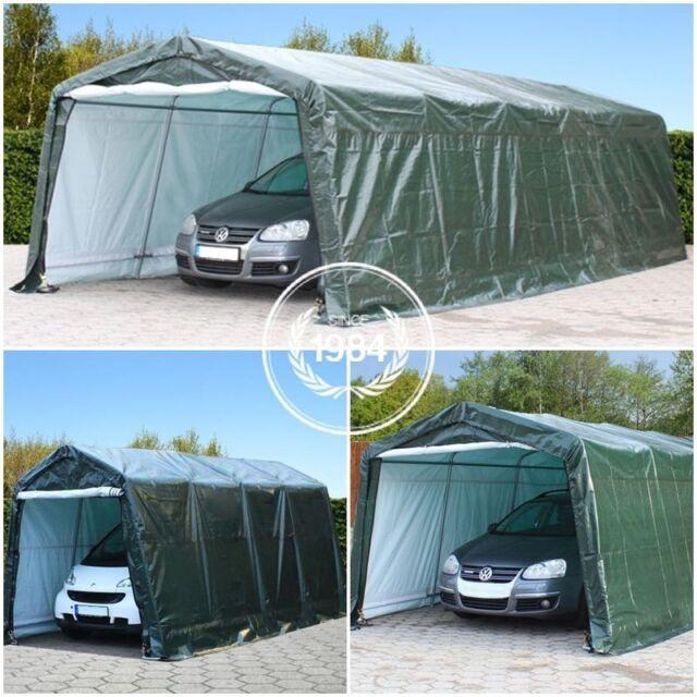 Portable garage storage shed shelter tent carport car for 3 car carport dimensions